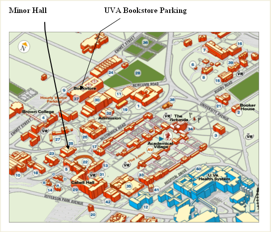 Map to Minor Hall